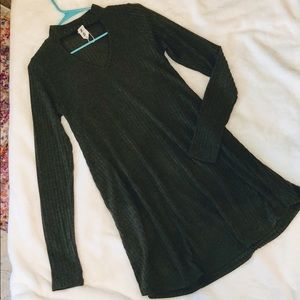 Olive Green long sleeve boutique dress